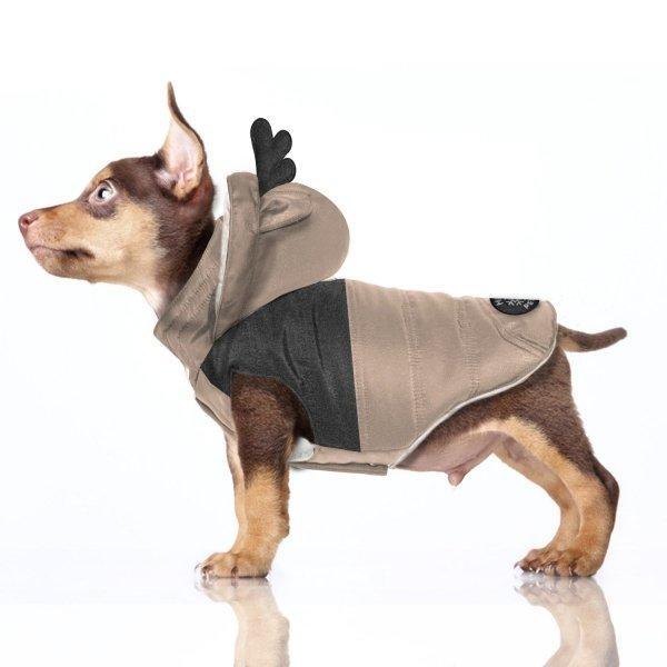 kurtka puchowa, karmelowa dla psa od MIlk&Pepper