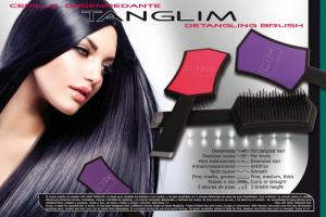 LIM Tanglim Szczotka do rozczesywania włosów kolor czarny