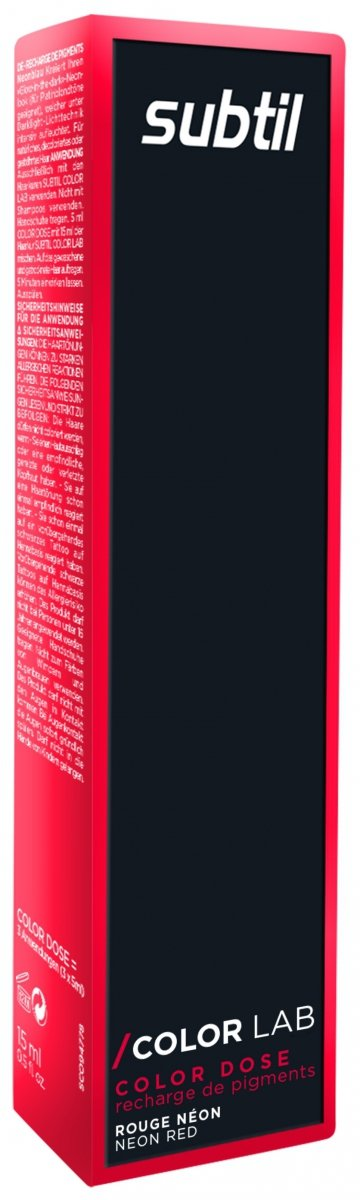 Color Dose NEON 15 ml CZERWONY Subtil