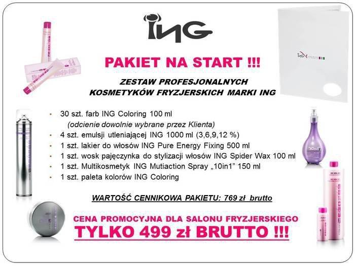ING Pakiet na Start - zestaw produktów