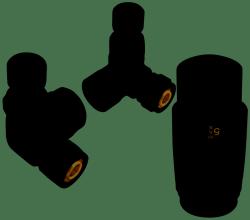 Zestaw Dekoracyjny Ferro Termostatyczny Osiowy Antracyt
