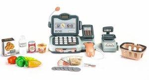 Kasa sklepowa produkty skaner kalkulator dźwięki