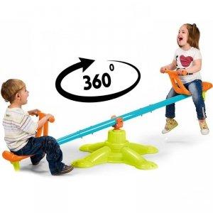 FEBER Huśtawka Równoważna 2w1 Karuzela Ogrodowa Dwuosobowa dla Dzieci