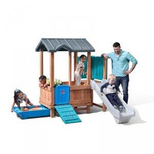 Step2 Adventure  drewniany plac zabaw Domek Zjeżdżalnia