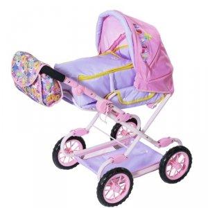 Baby Born Różowy Wózek dla Lalki z Torbą na Akcesoria i Nosidełkiem