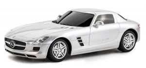Mercedes-Benz SLS AMG 1:24 RTR (zasilanie na baterie AA) - Srebrny