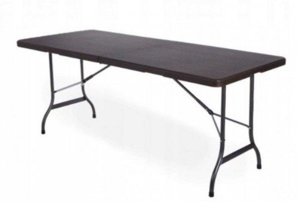 Stół cateringowy bankietowy ogrodowy 180cm ratan