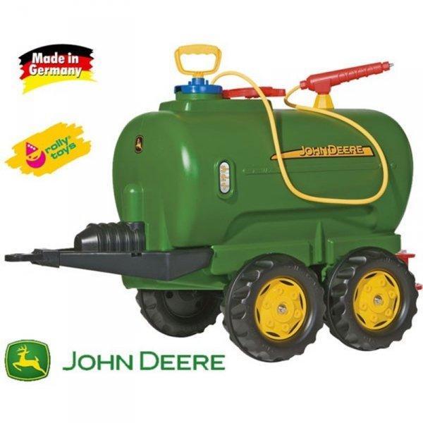 Rolly Toys rollyTrailer cysterna  John Deere dwuosiowa + pompka