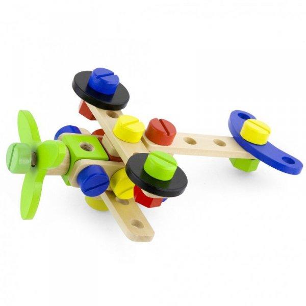 Drewniane Klocki Konstrukcyjne Viga 48 Elementów