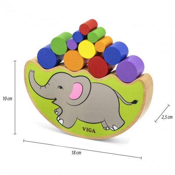 Drewniana układanka Balansujący Słoń Viga Toys