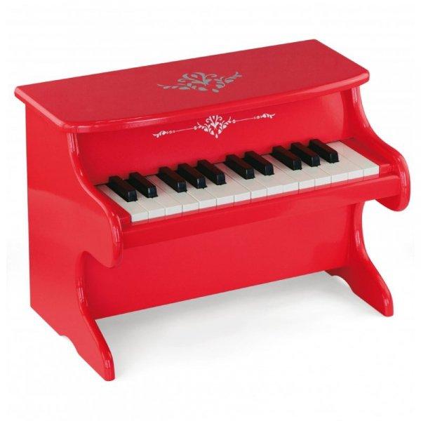 Moje pierwsze pianinko Viga czerwone