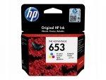 HP oryginalny ink / tusz 3YM74AE, Tri-colour, 200s, HP 653, HP DeskJet IA 6000, IA PLUS 6400