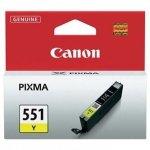 Canon oryginalny wkład atramentowy / tusz CLI551Y. yellow. 7ml. 6511B001. Canon PIXMA iP7250. MG5450. MG6350 6511B001