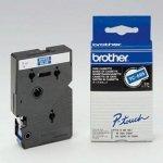 Brother oryginalna taśma do drukarek etykiet. Brother. TC-595. biały druk/niebieski podkład. laminowane. 8m. 9mm TC595