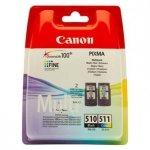 Canon oryginalny wkład atramentowy / tusz PG-510/CL-511. black/color. 220. 245s. 9ml. 2970B010. blistr. Canon MP240. 260. 270. 480 2970B010