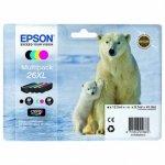 Epson oryginalny wkład atramentowy / tusz C13T26364020. T263640. 26XL. CMYK. 3x9.7/12.2ml. Epson Expression Premium XP-800. XP-700. XP-600 C13T26364020