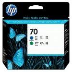 HP oryginalny głowica drukująca C9408A, No.70, black/green, HP DesignJet Z3100 C9408A