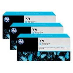 HP oryginalny wkład atramentowy / tusz CR255A. light cyan. 3x775ml. No.771. HP 3-Pack. Designjet Z6200