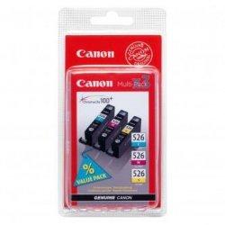 Canon oryginalny wkład atramentowy / tusz CLI526 CMY. cyan/magenta/yellow. 340s. 4541B009. 4541B006. Canon Pixma  MG5150. MG5250. MG6150. MG8150 4541B009