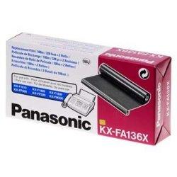 Panasonic oryginalna folia do faxu KX-FA136X. 2*100m. Panasonic Fax KX-F 1810. KX-FP 151. 152. 245. KXFM 205. 220 KX-FA136X