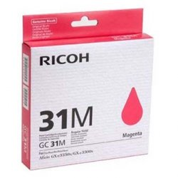 Ricoh oryginalny wkład atramentowy / tusz 405690. Typ GC 31M. magenta. Ricoh GXe2600N/GXe3000N/GXe3300N/GXe3350N