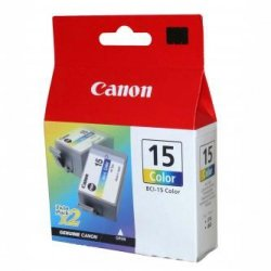 Canon oryginalny wkład atramentowy / tusz BCI15C. color. 100s. 8191A002. 2szt. Canon i70 8191A002