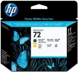 HP oryginalna głowica drukująca C9384A. No.72. matte black/yellow. HP Designjet T1100. T770 C9384A
