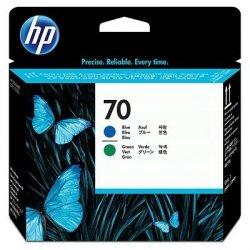 HP oryginalny głowica drukująca C9408A, No.70, black/green, HP DesignJet Z3100