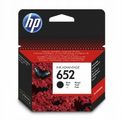HP Tusz 652 Black Cart F6V25AE#BHK