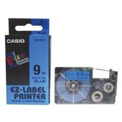 Casio oryginalna taśma do drukarek etykiet. Casio. XR-9BU1. czarny druk/niebieski podkład. nielaminowany. 8m. 9mm