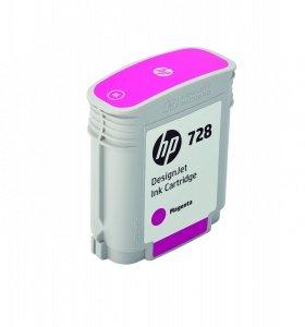 HP 728 Magenta 40ml. oryginalny wkład atramentowy / tusz do plotera Designjet T730/T830 purpurowy F9J62A