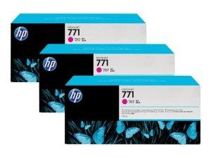 HP oryginalny wkład atramentowy / tusz CR252A. magenta. 3x775ml. HP 771. HP 3-Pack. Designjet Z6200 CR252A