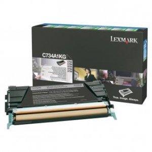 Lexmark oryginalny toner C734A1KG. black. 8000s. return. Lexmark C734. C736. X734. X736. X738 C734A1KG