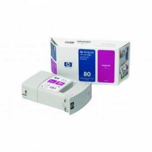 HP oryginalny wkład atramentowy / tusz C4847A. No.80. magenta. 350ml. HP DesignJet 1050. C. 1055. C. CM C4847A
