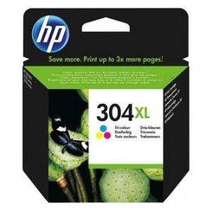 HP oryginalny ink N9K07AE, HP 304XL, Tri-color, 300s, 7ml, HP DeskJet 2620,2630,2632,2633,3720,3730,3732,3735 N9K07AE