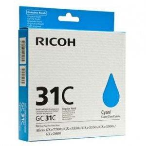 Ricoh oryginalny wkład atramentowy / tusz 405689. cyan. typ GC 31C. Ricoh GXe2600/GXe3000N/GXe3300N/GXe3350N 405689