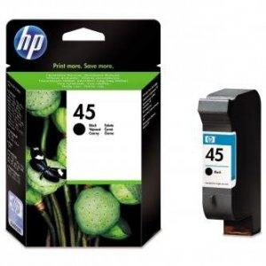 HP oryginalny wkład atramentowy / tusz 51645AE. No.45. black. 930s. 42ml. HP DeskJet 850. 970Cxi. 1100. 1200. 1600. 6122. 6127 51645AE