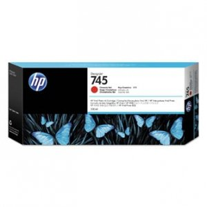 HP oryginalny ink F9K06A, HP 745, chromatic red, 300ml, HP DesignJet HD Pro MFP, DesignJet Z2600, Z5600 F9K06A