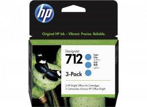 HP Tusz 712 3-Pack 29-ml Cyan DesignJet