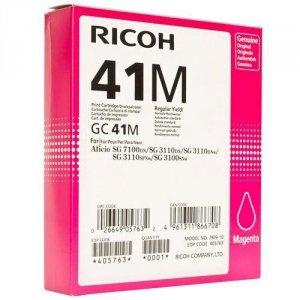 Ricoh oryginalny żelowe wypełnienie 405763. magenta. 2200s. GC41HM. Ricoh AFICIO SG 2100N 405763