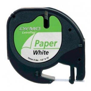 Dymo oryginalna taśma do drukarek etykiet. Dymo. 59421. S0721500. czarny druk/biały podkład. 4m. 12mm 59421