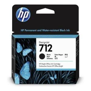 HP Tusz 712 38-ml Black DesignJet Ink