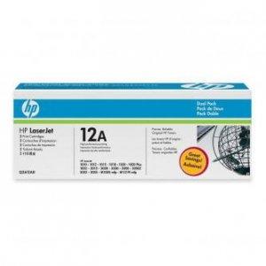 HP oryginalny toner Q2612AD. black. 4000 (2x2000)s. 12A. HP LaserJet 1010. 1012. 1015. 1020. 1022. 3015. 3020. Dual pack 2szt Q2612AD