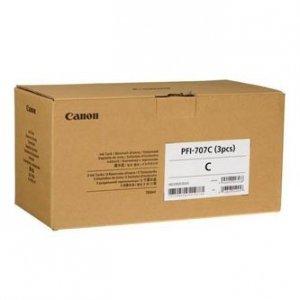 Canon oryginalny wkład atramentowy / tusz PFI707C. cyan. 3X700ml. 9822B003. ploter iPF-830. 840. 850 9822B003