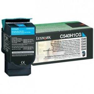Lexmark oryginalny toner C540H1CG. cyan. 2000s. return. high capacity. Lexmark C540. X543. X544. X543. X544 C540H1CG