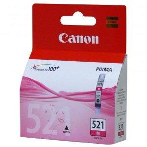 Canon oryginalny wkład atramentowy / tusz CLI521M. magenta. 470s. 9ml. 2935B008. 2935B005. blistr z ochroną. Canon iP3600. iP4600. MP620. MP630. MP980 2935B008