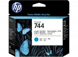 HP oryginalny wkład atramentowy / tusz 744 Photo Black+Cyan Printhead F9J86A