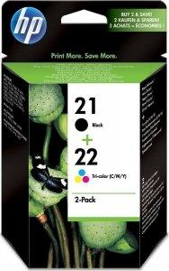 HP oryginalny wkład atramentowy / tusz No 21/22 Ink Prin Cart 2-pack SD367AE