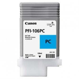 Canon oryginalny wkład atramentowy / tusz PFI106PC. photo cyan. 130ml. 6625B001. ploter iPF-6300 6625B001
