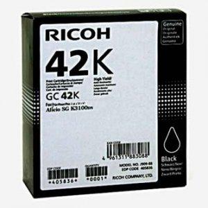 Ricoh oryginalny wkład żelowy 405836. black. 10000s. GC 42K. Ricoh SG K3100DN. Aficio SG K3100DN 405836